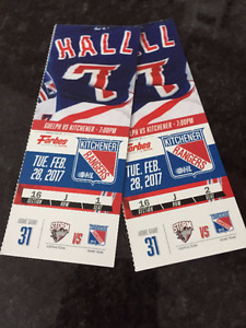 Kitchener Rangers Tickets (2) - TUES FEB 28
