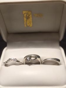 Custom-Designed Set of Engagement and Wedding Ring