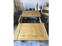Solid Wood Dining Table & 6Chairs