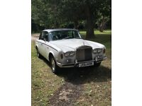 1975 White Rolls Royce Silver Shadow and chauffeur for hire