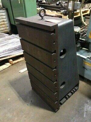 18 X 36 Cincinnati Milacron T-slotted Angle Plate Cast Iron 18 Base