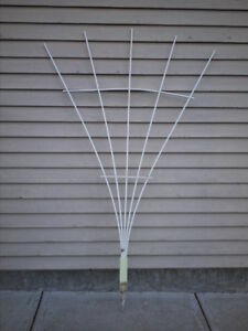White plastic garden trellis
