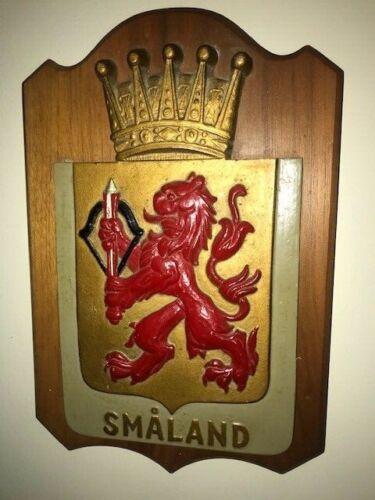 Large Vintage Smaland Sweden wall plaque