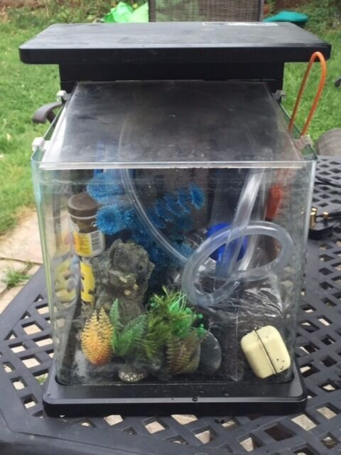 Superfish wave 15 aquarium with filter and heater in for Fish tank with filter and heater