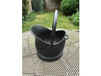 Black Metal Coal Bucket - 2 available