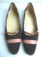 Ballet Flat Carel All Leather Suede Brown Pink T 38.5 Very Good Condition - carel - ebay.co.uk