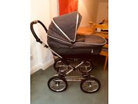 Brand New Silver Cross 'Sleepover' Pram & Push Chair Combo Unregistered Inc Rain Cover and Parasol