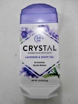 Crystal Invisible Solid Aluminum Free Lavender White Tea Deodorant Stick, 2.5 oz