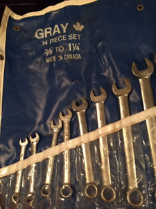 Gray Combination Wrench Set