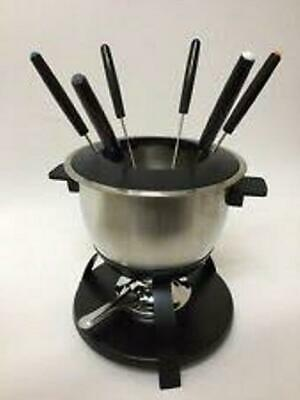 Trudeau 10 Piece Meat Fondue Set Stainless Steel  FREE - 10 Piece Meat Fondue Set