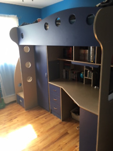 Loft Beds with Mattress - Down to the Blue Loft Bed