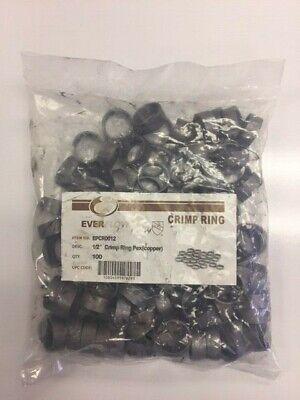 100- Everflow Epcr0012 12 Inch Pex Crimp Rings Copper