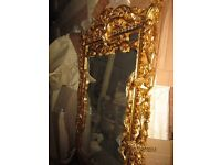 MASSIVE French style gold mirror