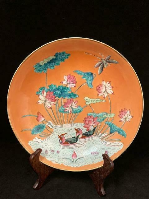 Guangxu Mark and Period Famille Rose Plate