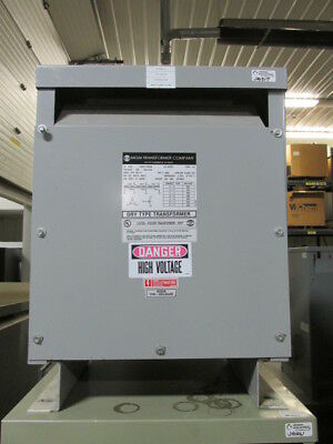 Used 15 Kva Dry Type Transformer 480 Delta 440 Y 254 Mgm Ad370-b0512 Tested