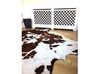 real cowhide rug