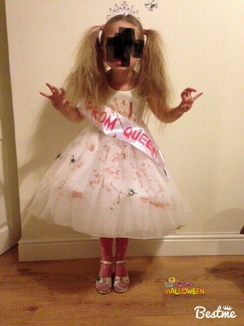 Halloween prom queen fancy dress age 7,8 or 9 years