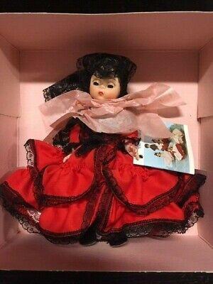 "VINTAGE Madame Alexander International Dolls Spain Doll 8"" with original box"