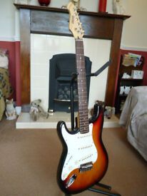Hohner Professional ST-59 Very Rare Left Handed Electric Guitar. Cort Factory Korea 1992. Excellent.
