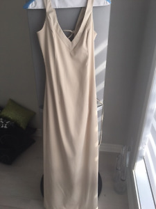 Le Chateau Satin Champagne Dress