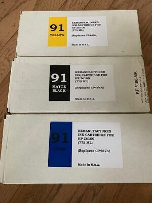 Lot Of 7 Hp Compatible 775 Ml Ink Cartridges For Hp Designjet Z6100 Free Ship