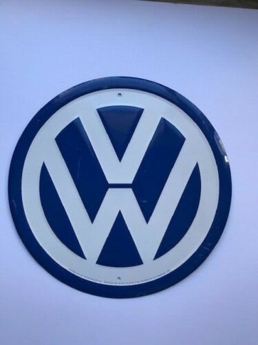Vintage VW Volkswagen Metal Button Sign Dealership Memorabilia 70
