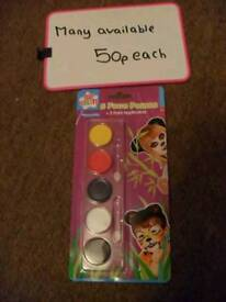 Brand new face paint sets