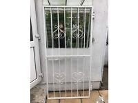 White metal door size gate