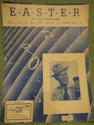 EASTER Sheet Music 1950 by Cliff Rodgers Vintage