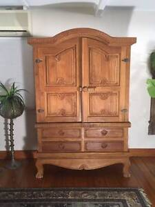 Samsara Armoire, hand carved teak tv cabinet storage cupboard Runaway Bay Gold Coast North Preview