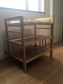 Natural Wood Solid Pine Changing Table (John Lewis)