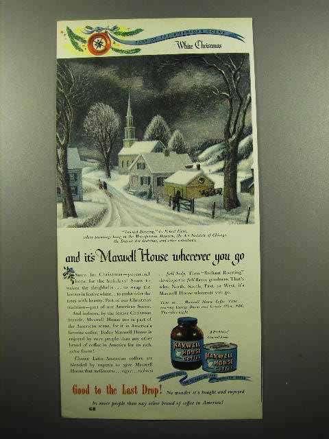 1946 Maxwell House Coffee Ad - White Christmas