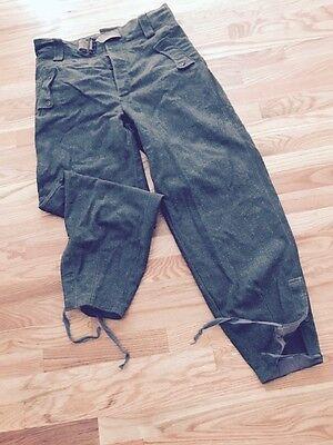 WW2 German  panzer trousers pants. Field green wool. Nice.