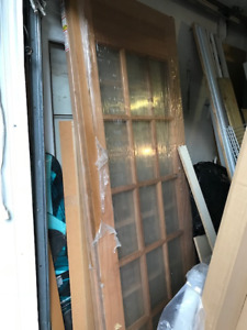 ~Brand new~30 inch 15 lite glass solid oak interior french door