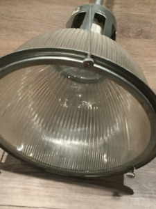 vintage holophane industrial light - six available