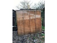 Fence panels (over lap)