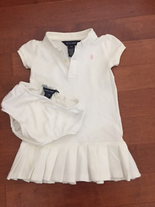 Ralph Lauren Tennis Dress (white) - size 24 months
