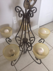 Chandelier 5 light for sale