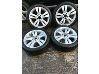 Alloy wheels for Mercedes C Class with winter tyres
