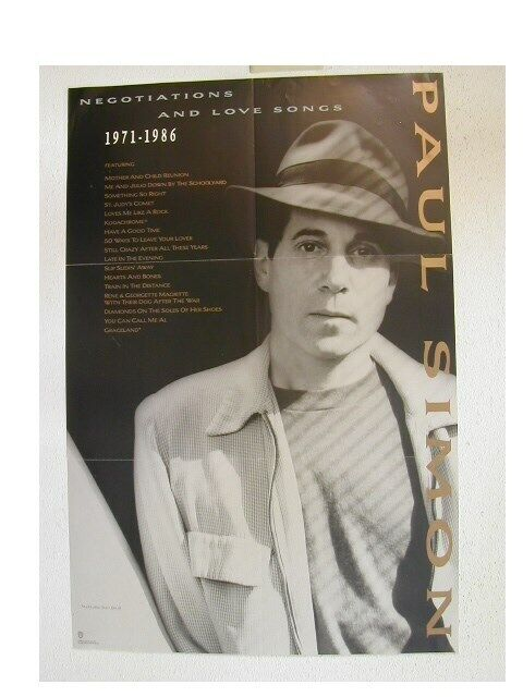 Paul Simon Promo Poster Negotiations and Love Songs
