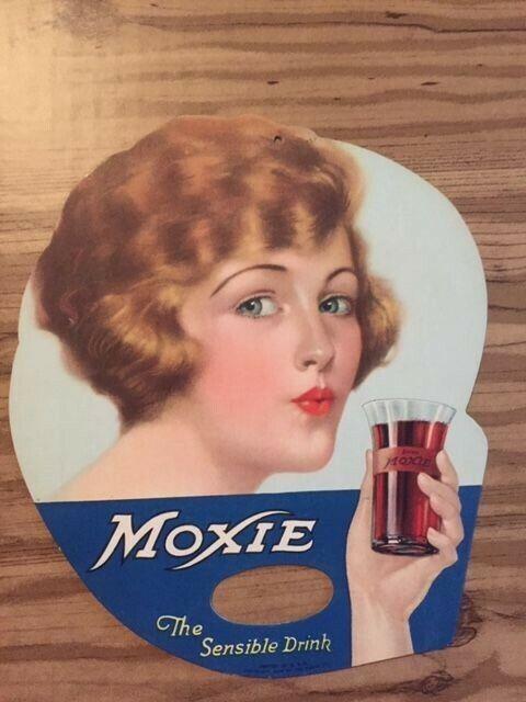 VINTAGE MOXIE ADVERTISING FAN 1920