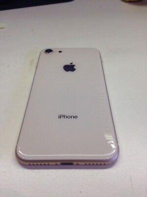 OEM Apple iPhone 8 full back housing frame rear chasis glass ( rose gold /white) - Oem Full Housing