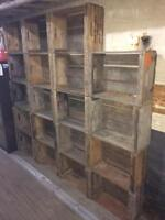 Canning Crates for Shelving DIY Trade show booth