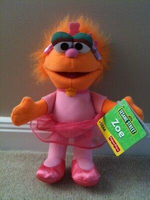 Fisher Price Sesame Street Zoe 8 inch 20 cm Plush Soft Stuffed Toy