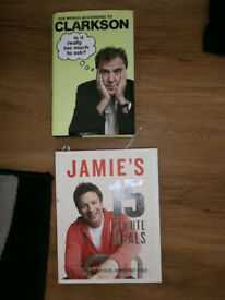 HARD BACK BOOKS - JAMIE OLIVER AND CLARKSON