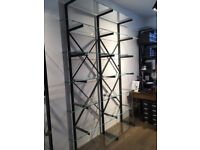 Large glass shelving glass cabinet retail unit display shelf shop fitting office shelves