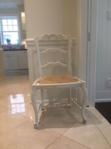 French Country Solid Wood Dining Chairs - Excellent Condition