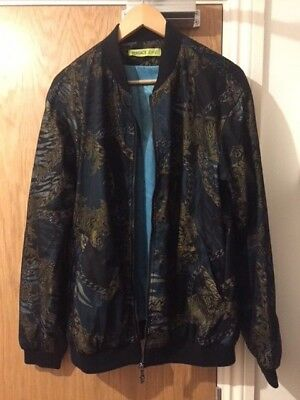 VERSACE JEANS Baroque Chain Print  Bomber Jacket - UK 42/IT 52