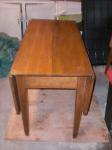 Old Folding Wooden Table Kawartha Lakes Peterborough Area image 1