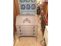 SHABBY CHIC PARIS GREY BUREAU